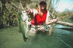 Tiffany Yeates, Owner of Gruene Outfitters Fly Fishing Girls, Fishing World, Fly Fishing Gear, Fishing Guide, Deep Sea Fishing, Fishing Humor, Trout Fishing, Bass Fishing, Guadalupe River