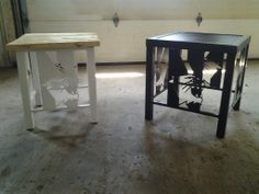 Northwestern University tables built for Athletic Dept. Alumni Auction, logo used with permission from the University