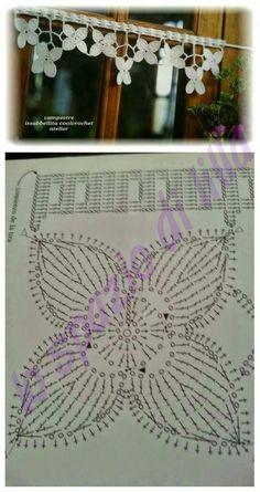 lo spazio di lilla: Punti all'uncinetto con schemi / Crochet stitches charts Crochet Stitches Chart, Crochet Borders, Filet Crochet, Irish Crochet, Crochet Motif, Crochet Flowers, Crochet Lace, Crochet Patterns, Hand Embroidery Flowers
