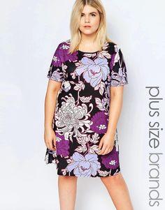 Image 1 ofPink Clove Printed Shift Dress