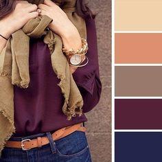 Вот как нужно сочетать цвета в одежде. В таких комплектах ты будешь просто неотразима!