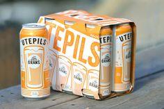 Grans Utepils on Packaging Design Served #beer #package #design