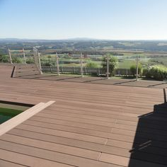The level of the deck, sloping passageway
