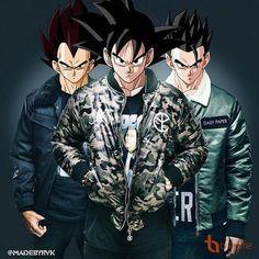 Vegeta,goku and gohan Dragon Ball Image, Dragon Ball Gt, Dragon Bollz, Foto Do Goku, Goku Wallpaper, Cool Anime Guys, Animes Wallpapers, Hypebeast, Dbz Quotes