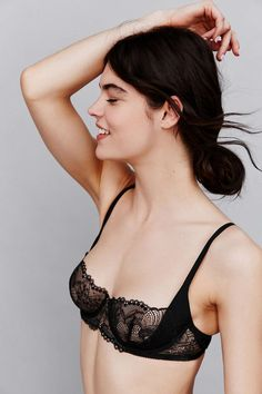 Calvin Klein Black Sling Balconette Bra