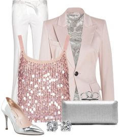 Blush & Metallic ♡ new years outfit I Love Fashion, Passion For Fashion, New Fashion, Fashion Outfits, Womens Fashion, Holiday Fashion, Color Type, Colour Combo, Swagg