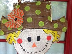 Hey, I found this really awesome Etsy listing at https://www.etsy.com/listing/243406618/burlap-scarecrow-door-hanger-with