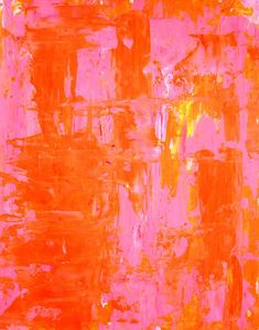 pink and orange painting