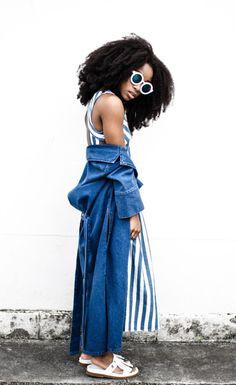 ecstasymodels: Blue Hues Dress: Zara // Denim Duster Coat:...