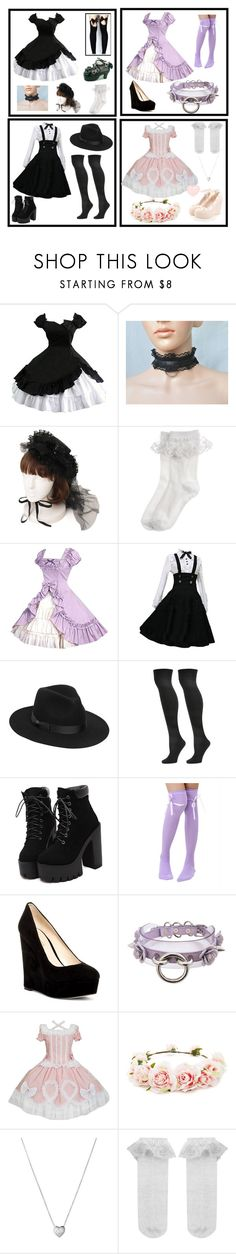"""Lolita"" by someonewithnolife ❤ liked on Polyvore featuring Monsoon, Lack of Color, Steve Madden, Nine West, Forever 21 and Links of London"