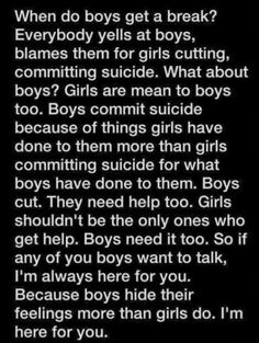 I'm always here for you whenever you need to talk. I won't judge, I will listen, I will respect you and I will care ❤