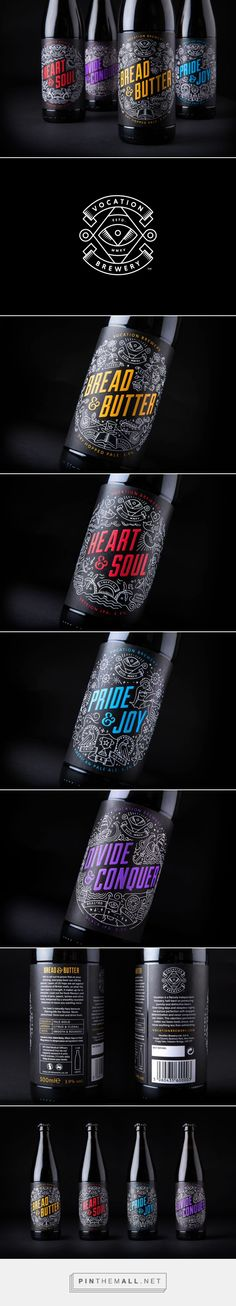 New Packaging for Vocation Brewery by Robot Food — BP&O - created via http://pinthemall.net