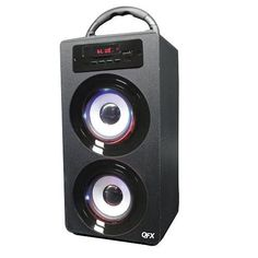 QFX BT140 Rechargeable Speaker wBluetoothFMUSBSDAUX InRemote  RED *** Details can be found by clicking on the image. (This is an affiliate link) #BluetoothSpeakers