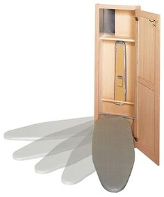 Wall mount board, would like one that stores iron & spray bottles for water & starch.