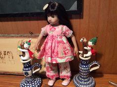 "Shabby chic, hankie, 14"" doll clothes, Maru, pink by judysdollboutique on Etsy"