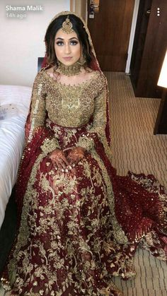 - Source by - Asian Bridal Dresses, Bridal Mehndi Dresses, Walima Dress, Shadi Dresses, Bridal Dress Design, Wedding Dresses For Girls, Bridal Wedding Dresses, Wedding Themes, Pakistani Fashion Party Wear