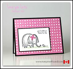 Stampin Up Love You lots for Stamping Techniques 101 - Stampin With Sandi - Canadian Stampin Up Demonstrator
