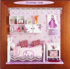 Accesorios de casa de muñecas en miniatura, bricolaje Casa de muñecas decorar, modelo de la casa de madera