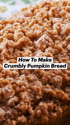 Pumpkin Recipes, Fall Recipes, Holiday Recipes, Pumpkin Bread, Pumpkin Spice, Just Desserts, Dessert Recipes, Pumpkin Dessert, Baking Recipes