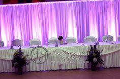 Sioux Falls #Wedding #DJ, Jason Yoshino Weddings with a beautiful purple lighting backdrop #design. #brides #weddingplanning