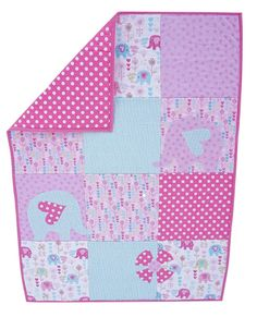 Elephant Baby Quilt // Baby Quilt // Pink Quilt by WeQuiltThisCity