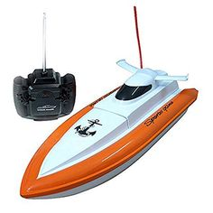 Babrit-F1-High-Speed-RC-Boat-Remote-Control-Electric-Boat-Orange-color-Only-Works-In-Water