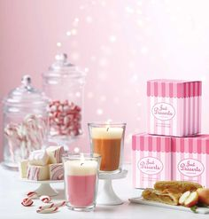 PartyLite Just Desserts Duftwachsgläser in Apfelstrudel und Pfefferminz-Marshmallow