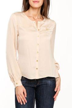 {Lexie gold stain blouse} Dex