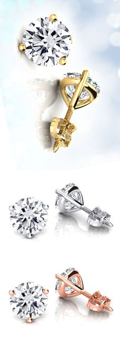 For timeless elegance, diamond solitaire earrings are the way to go. They are not just your everyday studs. The solitaire diamond earrings are the earring that only hold that one special diamond in each earring. Not a cluster of diamonds. Just one. It can come in different shapes, most popular are round and princess cut diamonds and a variety of sizes.