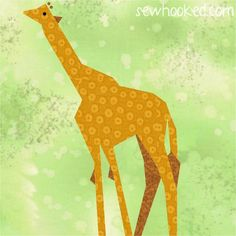 (7) Name: 'Quilting : Giraffe (paper pieced)  FREE
