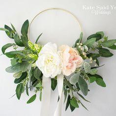 Loving all the hoops passing through our studio lately!  Silk wedding floral hoop by Kate Said Yes Weddings. #hoopbouqet #floralhoop #flowerhoop  #weddingbouquet #bridalbouquet #weddingflowers #bouquet #bride #bridalbouquet #bridetobe #weddingplanning #we Peonies Bouquet, Navy Bouquet, Rose Bouquet, Floral Hoops, 2018 Wedding Trends, Silk Wedding Bouquets, Floral Wedding, Wedding Flowers, Nature Inspired Wedding