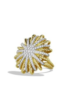 David Yurman Starburst Ring with Diamonds in Gold Jewelry & Accessories - Bloomingdale's Diamond Jewelry, Gemstone Jewelry, Gold Jewelry, Jewelry Accessories, Fine Jewelry, Jewelry Box, Jewellery, Jewelry Rings, Fashion Accessories