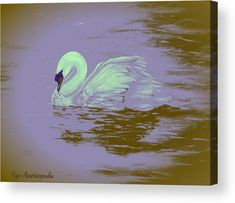 Swan Wood Print featuring the painting Swan Dream by Faye Anastasopoulou Wall Art Prints, Canvas Prints, Fine Art Posters, Dream Painting, Thing 1, Dream Art, Texture Painting, Print Pictures, Wood Print