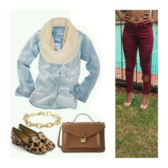 High Waist Distressed Skinny Burgundy Jeans