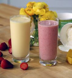 The latest tips and news on Smoothies are on POPSUGAR Fitness. On POPSUGAR Fitness you will find everything you need on fitness, health and Smoothies. Jamba Juice, Juice Smoothie, Smoothie Drinks, Milk Shakes, Restaurant Dishes, Restaurant Recipes, Pizza Restaurant, Yummy Smoothies, Smoothie Recipes