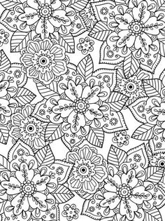Felicity French – Leafy Floral Print Source by levendulka Coloring Pages For Grown Ups, Free Adult Coloring Pages, Cute Coloring Pages, Flower Coloring Pages, Mandala Coloring Pages, Printable Coloring Pages, Coloring Books, Creation Art, Zentangle Patterns