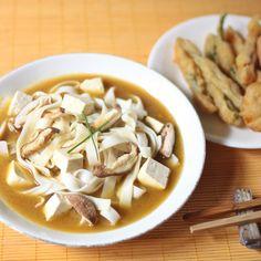 Miso Mushroom Udon with Tempura Vegetables {Via @Julie Forrest Forrest Hashimoto-McCreery}