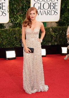Isla Fisher wore my favorite nude/sparkly gown of the 2013 Golden Globes