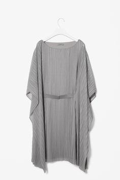 Draped pleat dress
