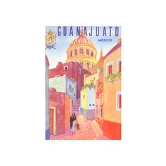 Poster for Guanajuato, Mexico, Colonial Streets Wall Art Print ($30) ❤ liked on Polyvore featuring home, home decor, wall art, entertainment, j, movies, movies by actress, movies by personality, movie wall art and movie posters