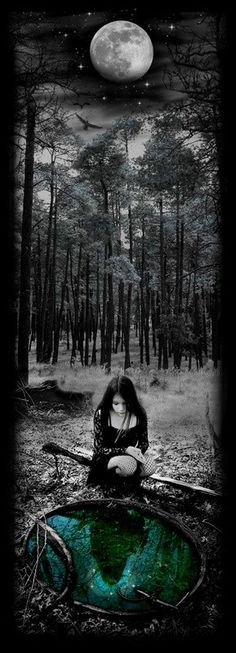 Fairy tales / enchanted forest gothic beauty, gothic art, dark beauty, moon m 3d Fantasy, Fantasy World, Dark Fantasy, Fantasy Forest, The Crow, Gothic Pictures, Arte Obscura, Gothic Art, Faeries