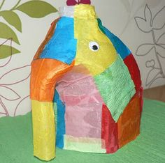 Elmer the Elephant Recycled Craft