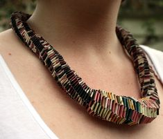 Folded paper necklace by amandacroatto on Etsy, $90.00