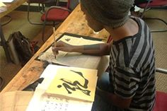 Renowned Calligrapher Yunn Pann Visits RMCAD