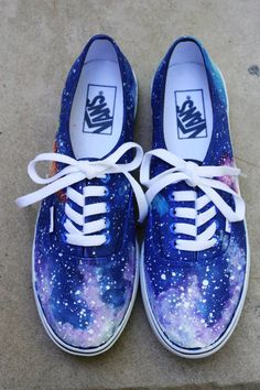 Items similar to Galaxy Vans Sneakers - Blue - Custom Hand Painted on Etsy c94ec99d07a