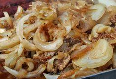 Carne, Shrimp, Meat, Magazine, Food, Caramelized Onions, Veggies, Tasty Food Recipes, Other Recipes