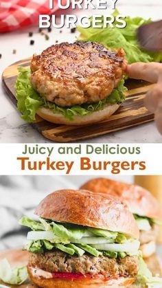 Cooking Turkey Burgers, Ground Turkey Burgers, Turkey Burger Recipes, Healthy Turkey Burgers, Turkey Burger Seasoning, Ground Turkey Seasoning, Turkey Burger Sliders, Turkey Food, Grilled Turkey Burgers
