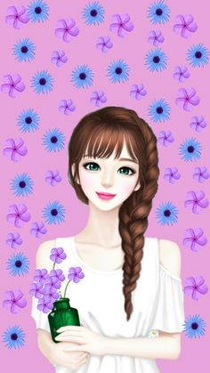 Image shared by GLen =^● 。●^=. Find images and videos about girl, Enakei and mellow j on We Heart It - the app to get lost in what you love. Lovely Girl Image, Girls Image, Henna Drawings, Cute Drawings, Korean Illustration, Girly M, Cute Cartoon Girl, Cute Girl Drawing, Cute Girl Wallpaper