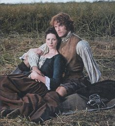 Jamie & Claire (Sam Heughan and Caitriona Balfe) from TV Guide