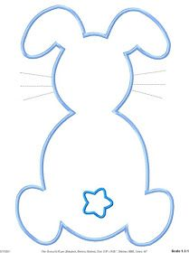 bunny template used this for my easter feet project removed the tail and added my pt footprints to the bunny paws then drew on a face and wrote happy easter from your little bunny on the cardstock Bunny Templates, Applique Templates, Applique Patterns, Applique Designs, Easter Bunny Template, Easter Templates, Machine Embroidery Projects, Machine Embroidery Applique, Bunny Paws
